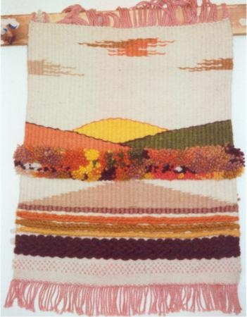tapiz muestrario tapiz algodón  lana telar de alto lizo-bastid