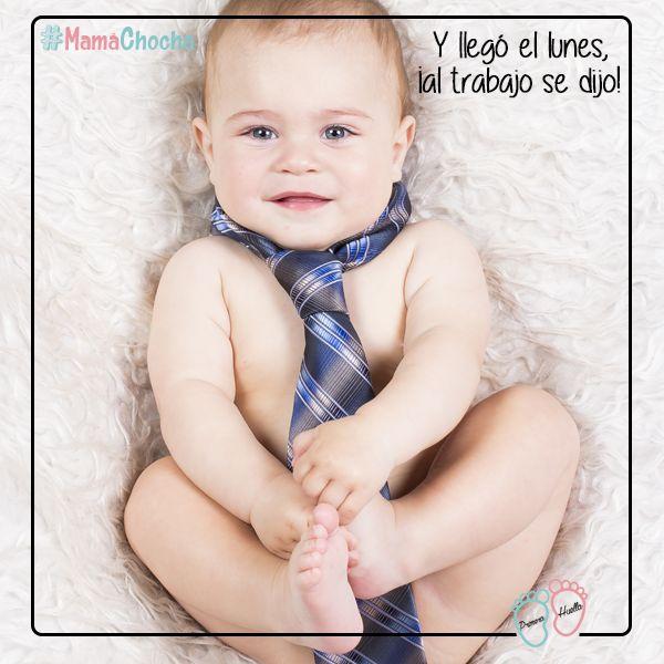 Ese momento en que tienes que irte al trabajo y sabes que no verás a tu bebé hasta la tarde  ¡Ánimo #MamáChocha!