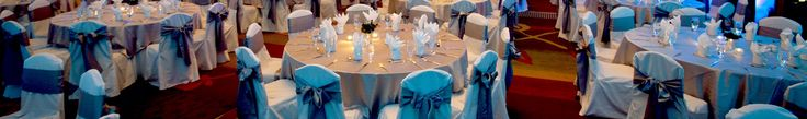 At The Banquet Hall in The Virginia Tech Inn.  Love how simple and pretty this looks.