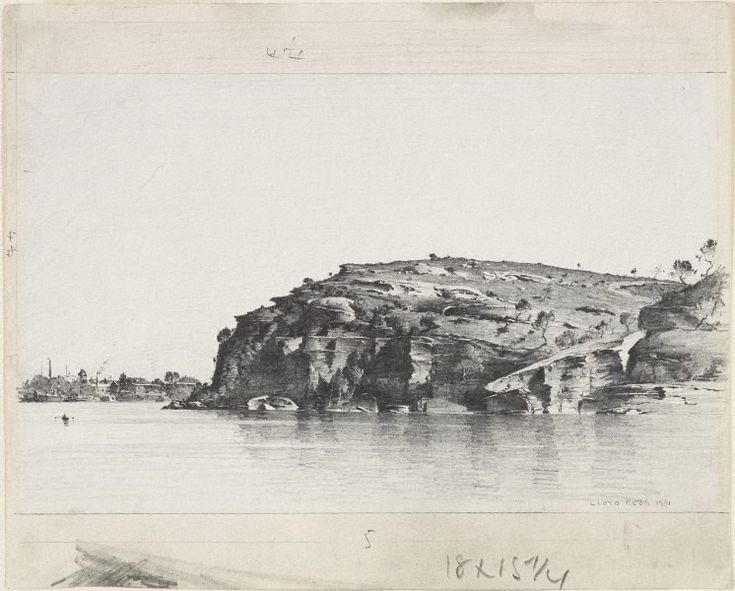 Ball's Head, Sydney Harbour, (1931) by Lloyd Rees