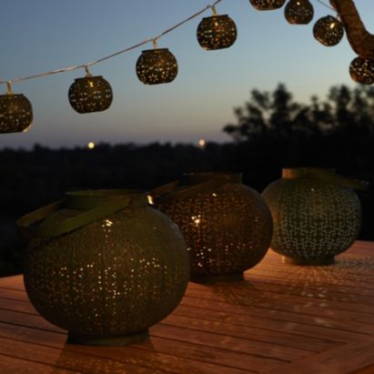Blooma Eames Green Solar Powered LED String Light - Bu0026Q for all your home  and garden supplies and advice