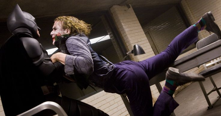 Christian Bale Hit Heath Ledger for Real in The Dark Knight -- Newly resurfaced interview clips reveal that Heath Ledger asked Christian Bale to hit him during The Dark Knight interrogation scene. -- http://movieweb.com/dark-knight-christian-bale-really-hit-heath-ledger/