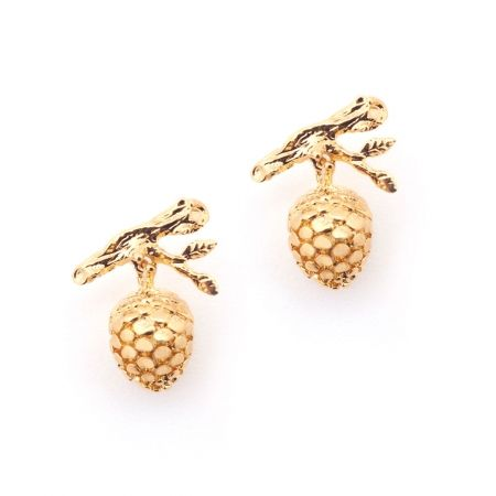 Pinecone Earring Gold