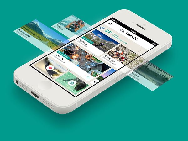 GO TRAVEL - Travel app concept by Pal Blanke, via Behance