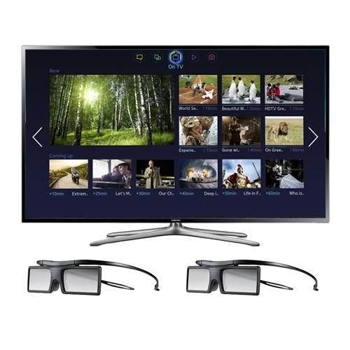 Samsung 55-inch UN55F6400 LED TV: The Samsung Smart TV finds the movies and TV shows you like - and more. Navigate within the 5 Smart Hub content panels. Simply discover movies, shows, and... M