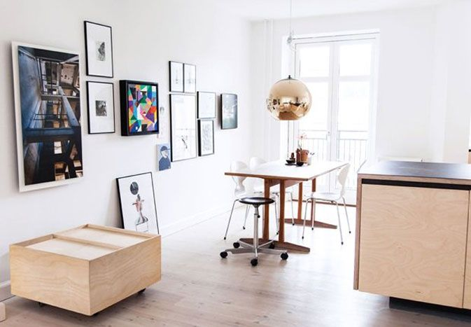 Like that dark print in the white room.  The home of Naja Tolsing from All The Way To Paris - NordicDesign