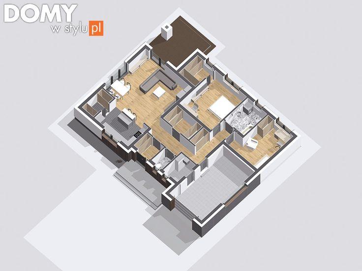 Pasja - nowość wśród projektów parterowych. Pełna prezentacja projektu dostępna jest na stronie: https://www.domywstylu.pl/projekt-domu-pasja.php  #projektydomów #projektydomow #projektygotowe #projektdomu #domyparterowe #domydrewniane #house #home #homeproject #homedesign #insides #interiors #wnetrza #architektura #architecture #design #domywstylu #mtmstyl