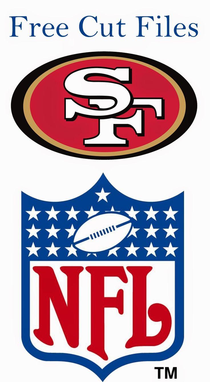 Free football Cut Files from Alice Scraps Wonderland:  San Francisco 49ers Logo & NFL Logo