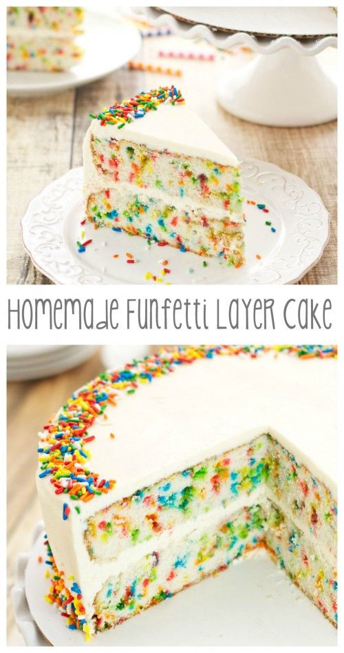 Funfetti Layer Cake| From: sweetpeaskitchen.com                                                                                                                                                     More