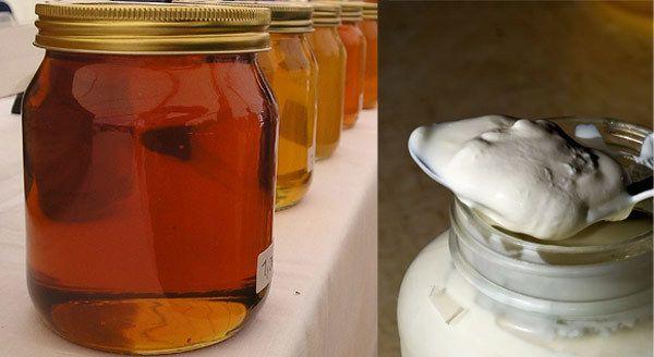 Honey and yogurt for frizzy hair