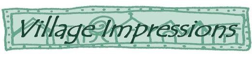 Village Impressions - Custom Made Clear Rubber Art Stamps