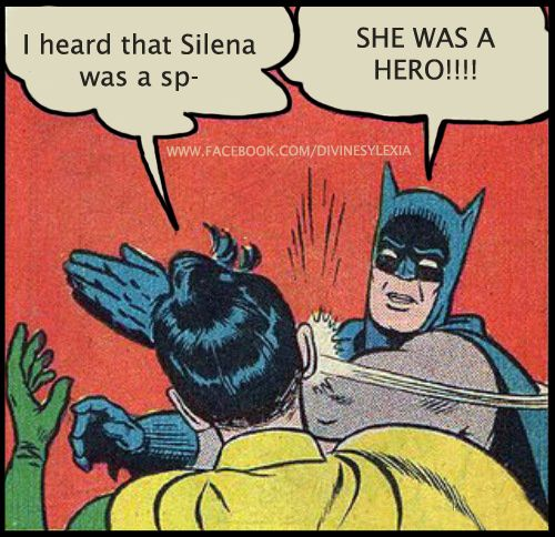 If u r a PJOfan u think of the Silena in The Last Olympian and if u have ever heard of Catwoman, u think of it differently