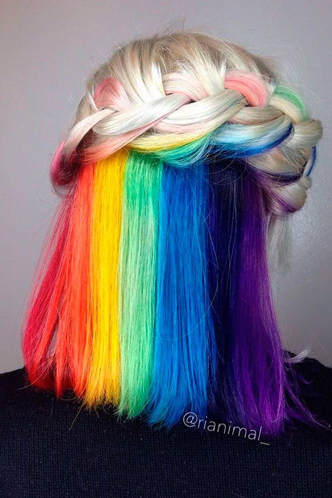 25 best ideas about rainbow hair on pinterest colourful