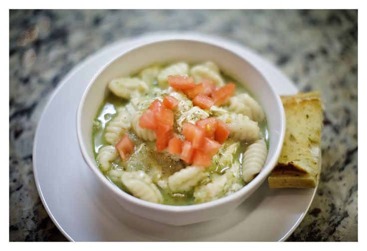 pesto chicken gnocchi soup!