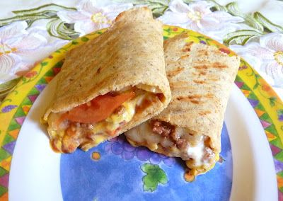GRILLED CHEESEBURGER WRAPS - Made with Jiffy Microwaveable Homemade Wraps - seriously good!