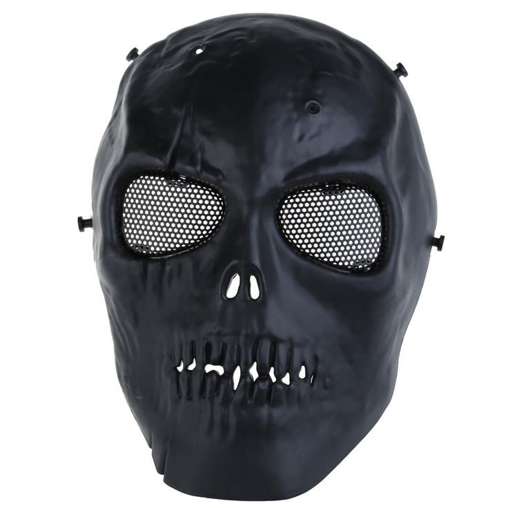 Army Mesh Full Face Mask Skull Skeleton Airsoft Paintball BB Gun Game Protect Safety Mask