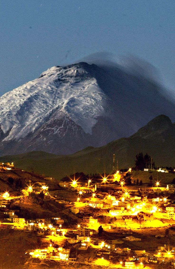 A View Of The Volcano Cotopaxi From Quito Ecuador Early