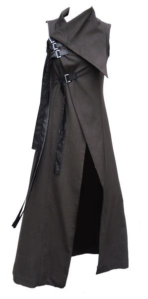 I'm a big fan of military and apocalyptic-esque style. I do also love long jackets. The collar is very pleasing. -DH