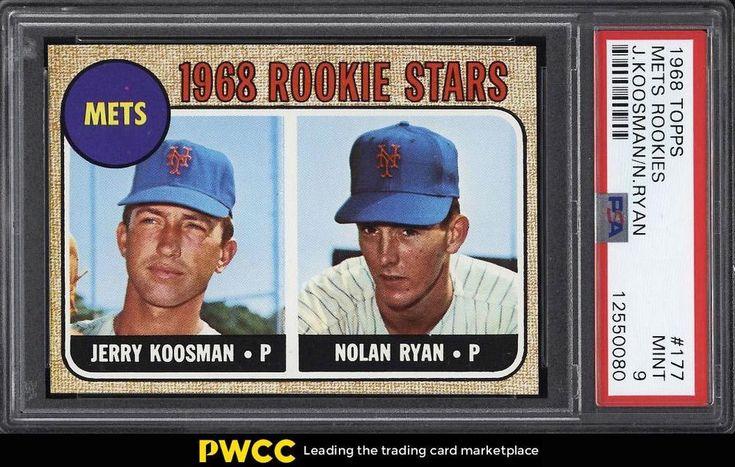1968 topps nolan ryan rookie rc 177 psa 9 mint pwcc