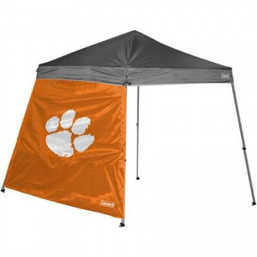 Clemson Tigers 10x10 Slant Leg Tent Canopy Side From