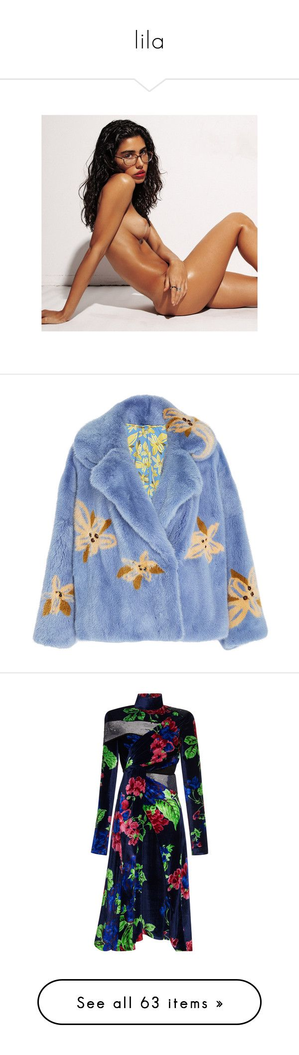 """""""lila"""" by lucieednie ❤ liked on Polyvore featuring outerwear, coats, jackets, blue, mink fur coat, lapel coat, blue coat, mink coat, blue mink coat and dresses"""