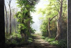 Do you struggle with adding effective light and detail in your paintings? Watch Kevin as he shows you how to paint this forest with dramatic highlight and shadows that add a lot of depth. For more information about oil paint, brushes, and DVDs, go to www.paintwithkevin.com