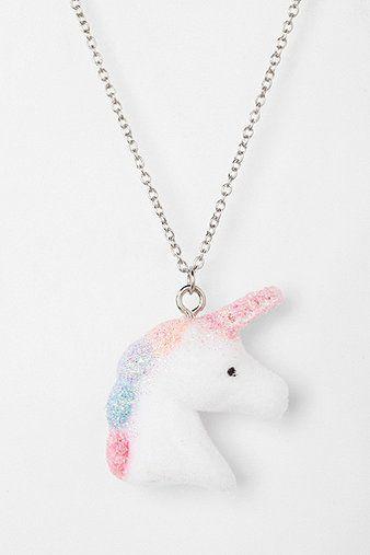 Urban Renewal Fuzzy Unicorn Necklace