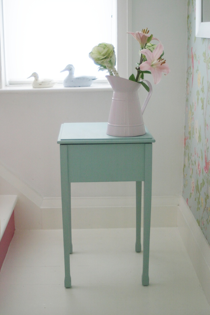 shabby chic reloved side table
