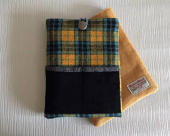 Tablet Case Harris Tweed  iPad sleeve Soft tablet case #Ipadcover #tabletcover #giftideas