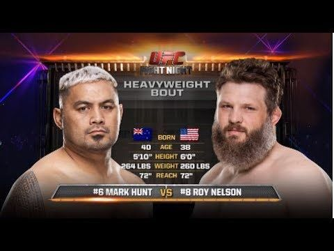 Fight Night Auckland Free Fight: Mark Hunt vs Roy Nelson