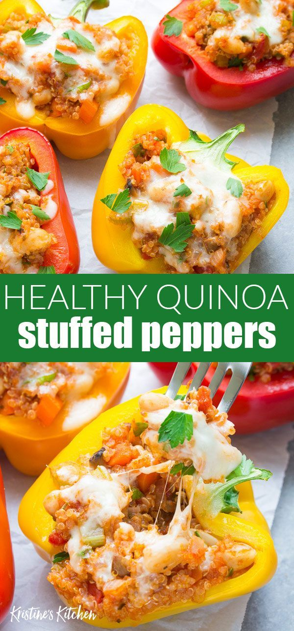 These Italian Quinoa Stuffed Peppers Take Stuffed Peppers To A Whole New Level They Re A Health Stuffed Peppers Quinoa Stuffed Peppers Stuffed Peppers Healthy