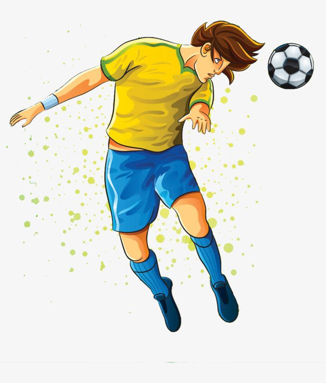 Hand Painted Footballer Football Soccer Player The Man Png Transparent Clipart Image And Psd File For Free Download Painting Clip Art Soccer Players