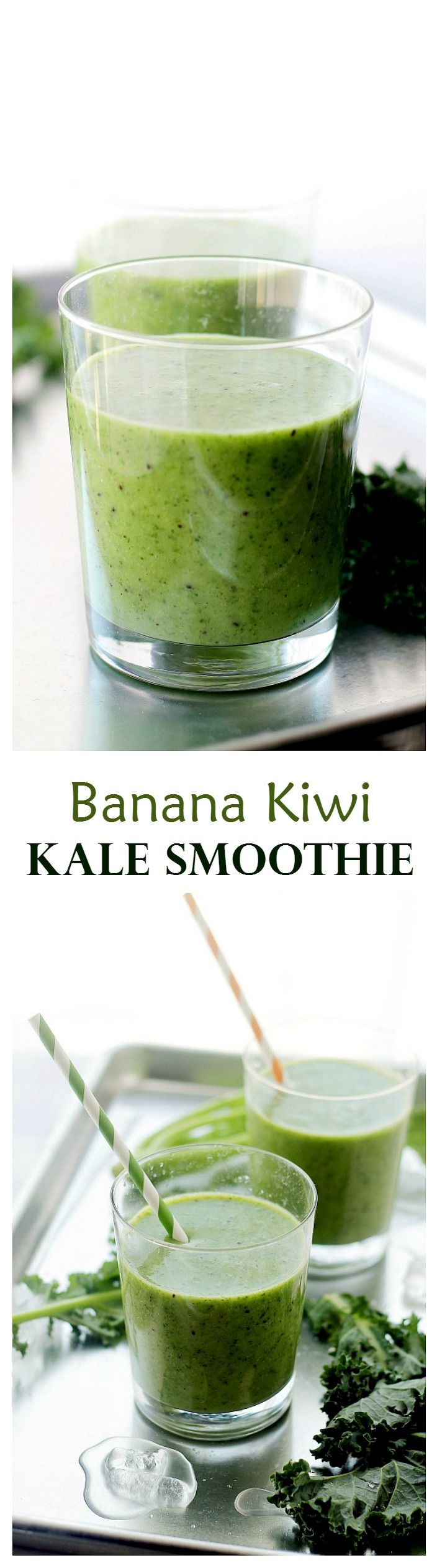 Combined with bananas, kiwi, milk and honey, this Kale Smoothie is surprisingly delicious and SO good for you!