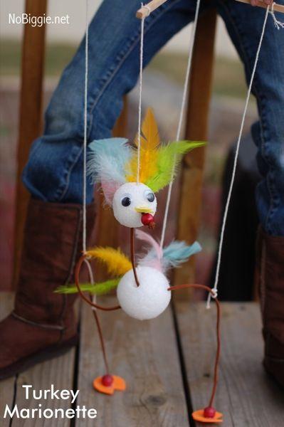 Turkey Marionettes   Lesson Plans   CraftGossip.com