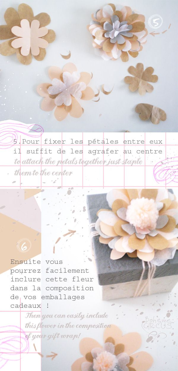 Bohème Circus: DIY flower wrapping