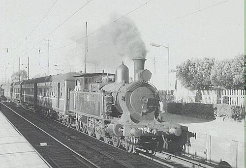 The last steam train at Merrylands, 3 May 1968 Photographer : Tony Maston