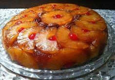 Ingredientes para la torta invertida de anana     Una lata de ananá en almíbar.     Para el caramelo:    200 g de azúcar. 50 g de mantec...
