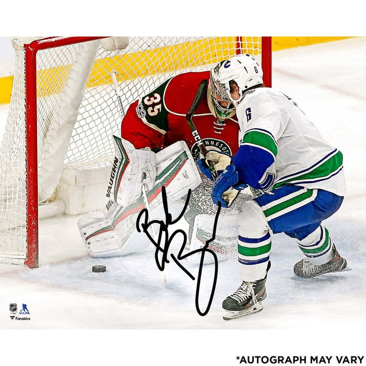 "Brock Boeser Vancouver Canucks Fanatics Authentic Autographed 16"" x 20"" First NHL Goal Photograph"