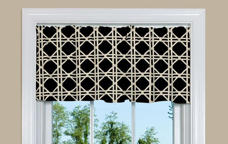 Discount Curtains: Cheap Brown Kitchen Valance with Lattice Design
