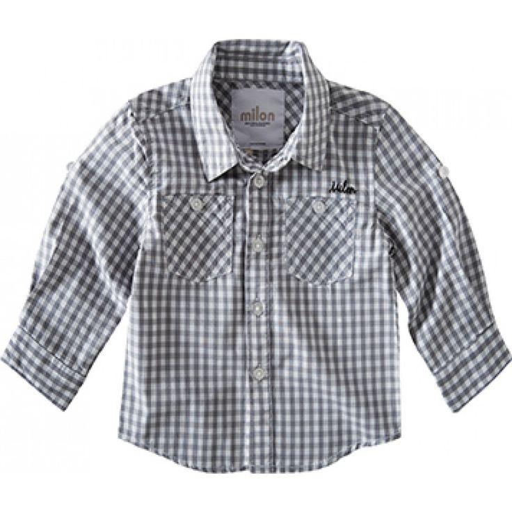 camisa xadrez infantil milon manga longa em tricoline