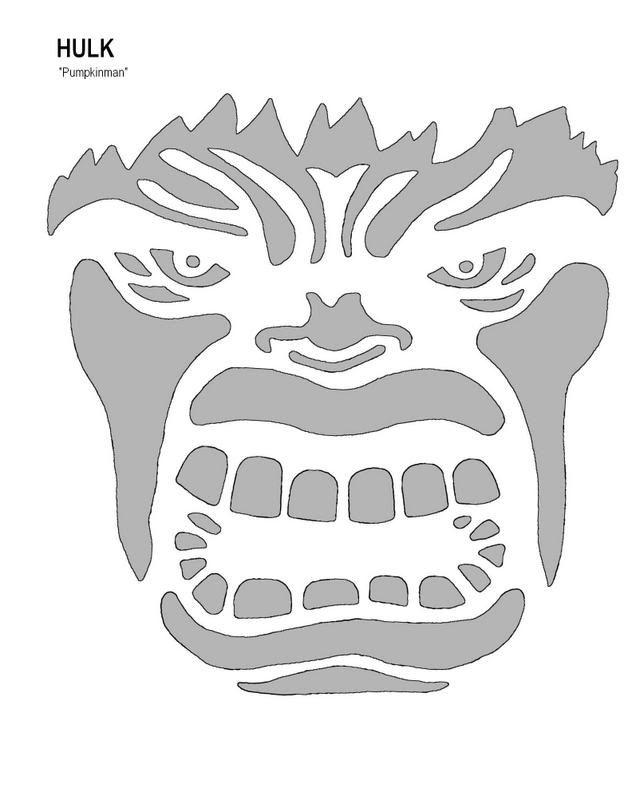 Pumpkinman 01 39 s image jack o lantern stencils for Incredible hulk face template