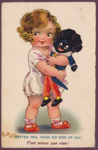 Agnes Richardson Unsigned Girl Golliwog Golliwogg Golly Pub Selco Dolly Serie