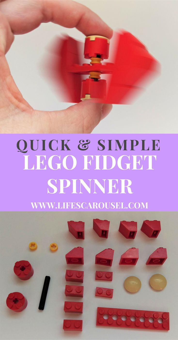 Easy Lego Fidget Spinner | Quick and easy Lego Fidget Spinner that uses common and easy to find pieces. Your kids will love this fun activity! 2