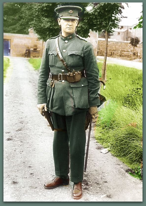 Michael Collins, Revolutionary And Founder Of The Irish Free State. Photo 1922. He did what was thought to be impossible. B/W Photo Colourised by Pearse.