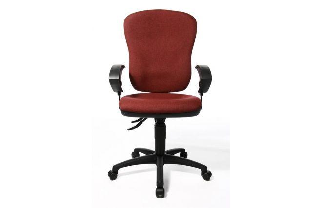 Fauteuil de bureau ergonomique ZENITH rouge moucheté prix promo Miliboo 229,00 € TTC 299€ soit -23%