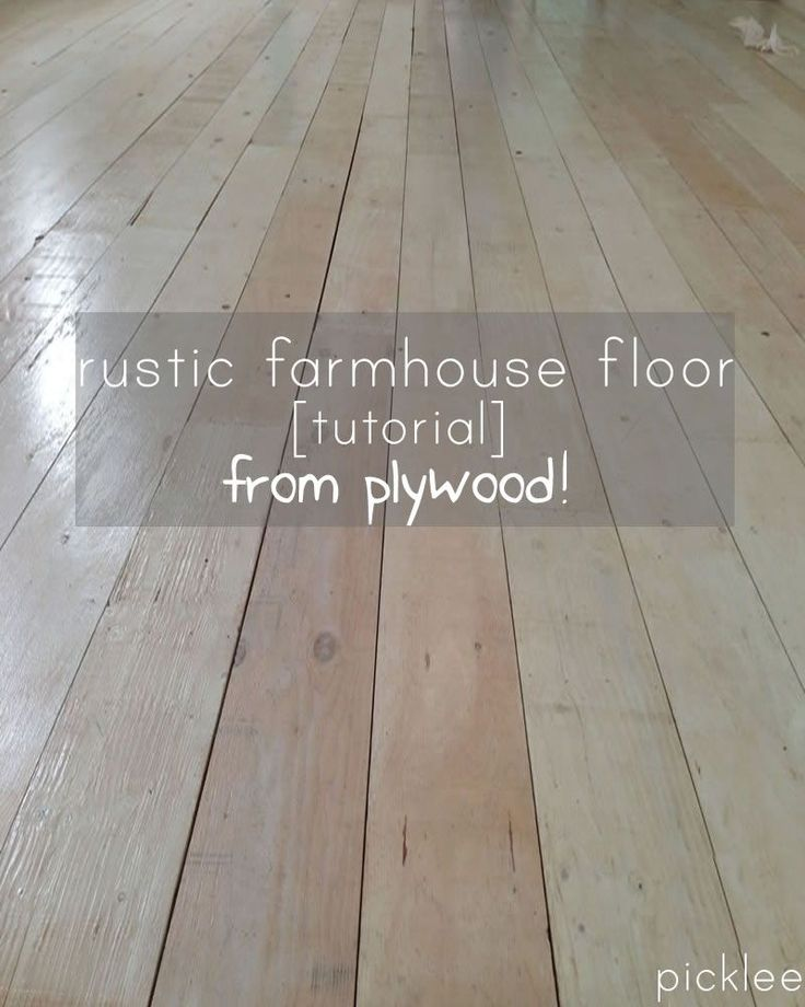 DIY:: Wide Plank Farmhouse floor tutorial using PLYWOOD! AMAZING!