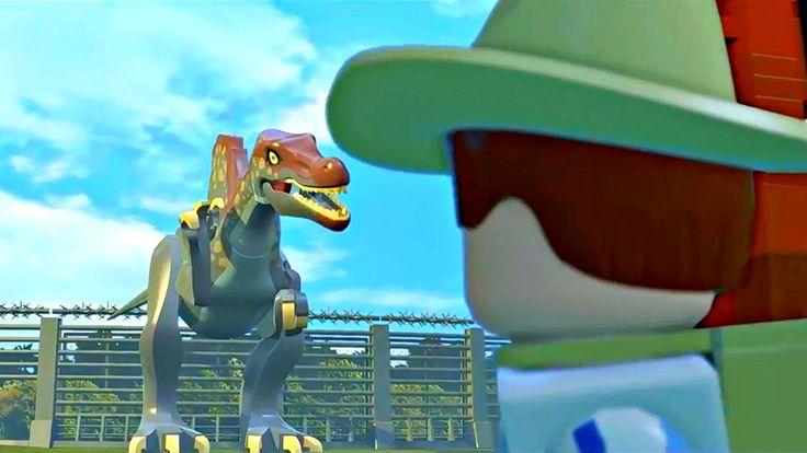 Lego Jurassic World.В Плену у Динозавра.Игры Мультики про Динозавров.Пар...