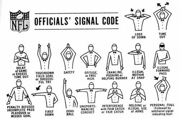 Nfl Referee Signals Nfl Nfl Futbol Americano Fussball Humor Coaching Training