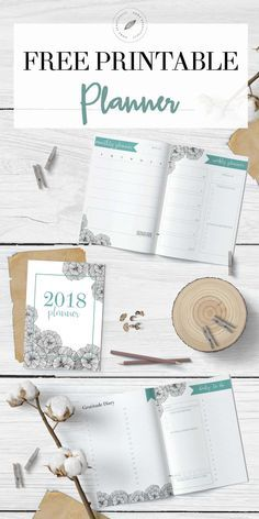 Ready to get organized? This free printable calendar for 2018 features a monthly planner, weekly planner, and daily to do list. Also, there's a gratitude and happiness dairy, a habit tracker, a meal planning printable, and a grocery list printable. And it's so cute and FREE! Hop to www.homebeautifully.com to grab your free calendar printable! #printable #planner #freeplanner #downloadableplanner #calendar Similar ideas: free planner printable | monthly calendar | 2018 printable calendar | wee...