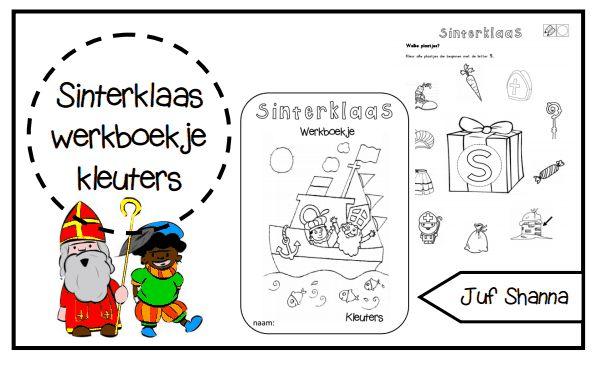 Thema Sinterklaas - werkboekje voor kleuters